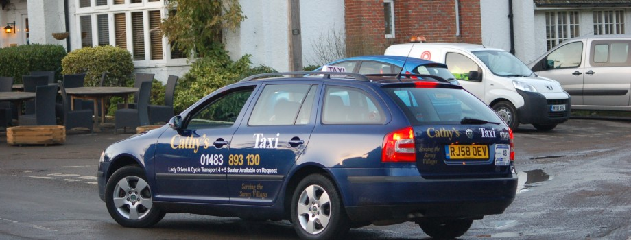Cathy's Taxi in Cranleigh and surrounding villages